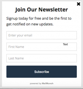 Call to Action Subscription Optin