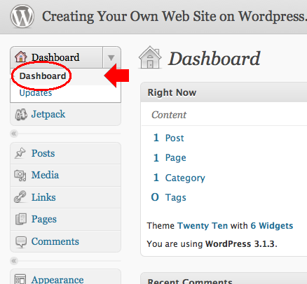 Wordpress Dashboard, Publishing First WordPress Post, Medical SEO, Medical Marketing Enterprises